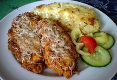 Tejfölben pácolt csirkemell tepsis reszelt krumplival recept