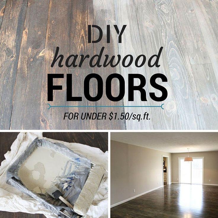 DIY Hardwood Floors for Under $1.50/sq.ft.