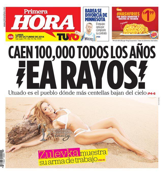 Miss Universe 2006, Zuleyka Rivera, en la portada de relanzamiento del periódico PRIMERA HORA.  #ZuleykaRivera #MissUniverse #MissUniverso #MissPuertoRico #MissUniverse2006 #MissUniverso2006 #ZuleykaRiveraMendoza #AmazingBody