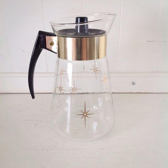 Vintage Corning Glass Carafe|Atomic Corning Glass Container|Mod Serving|Vintage Glass Pitcher|Atomic|Vintage Serving on Etsy, $10.00