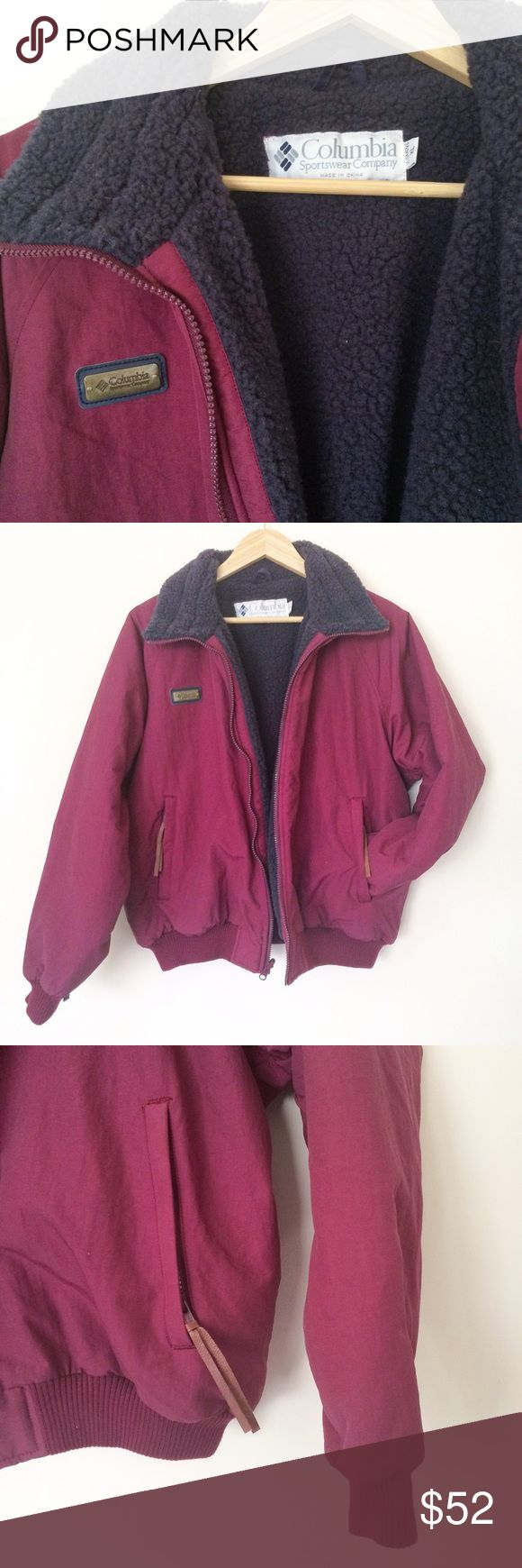 """Vintage Columbia puffy winter jacket Vintage Columbia jacket. Very good condition. Super warm.  Label size XL but like modern M. Flat measurements: underarms:24"""", length:25"""". Columbia Jackets & Coats Jean Jackets"""