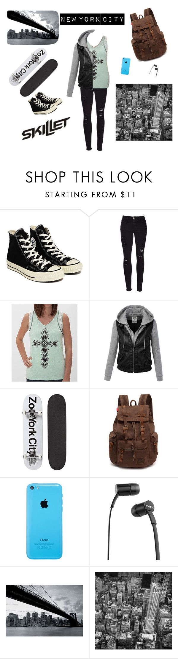 """New York City"" by katrina44a ❤ liked on Polyvore featuring Converse, Frame Denim, Daytrip, Zoo York, SOL Republic, 1Wall, women's clothing, women's fashion, women and female"