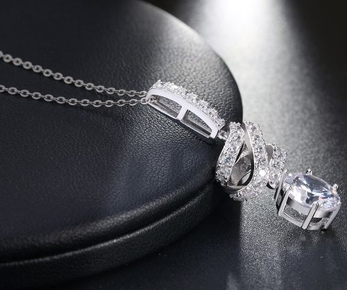 Sterling Silver Pendants And Chain Necklace
