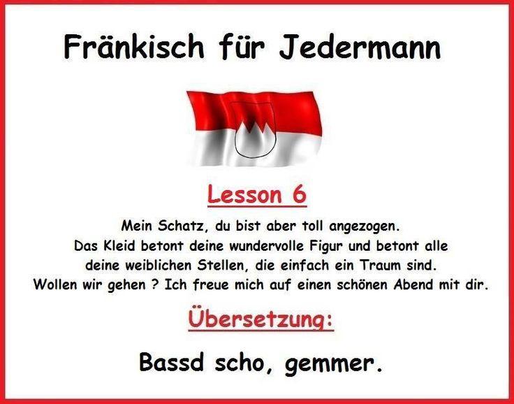 Franconiaa Fränkisch Bassd scho