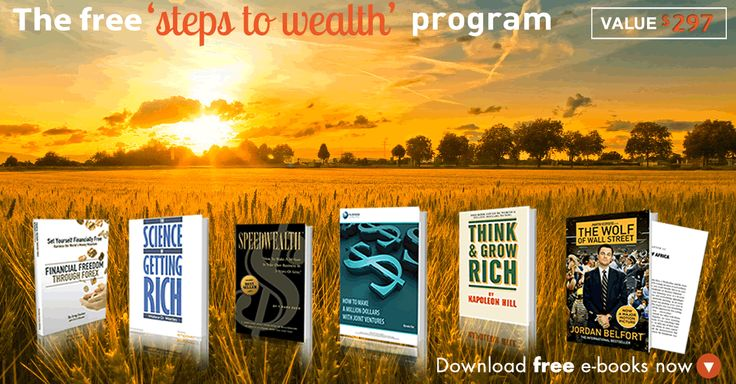 Feel like you need to improve your financial situation? Download this FREE Steps to Wealth program and learn the top tips from the best: http://bit.ly/stw_sm