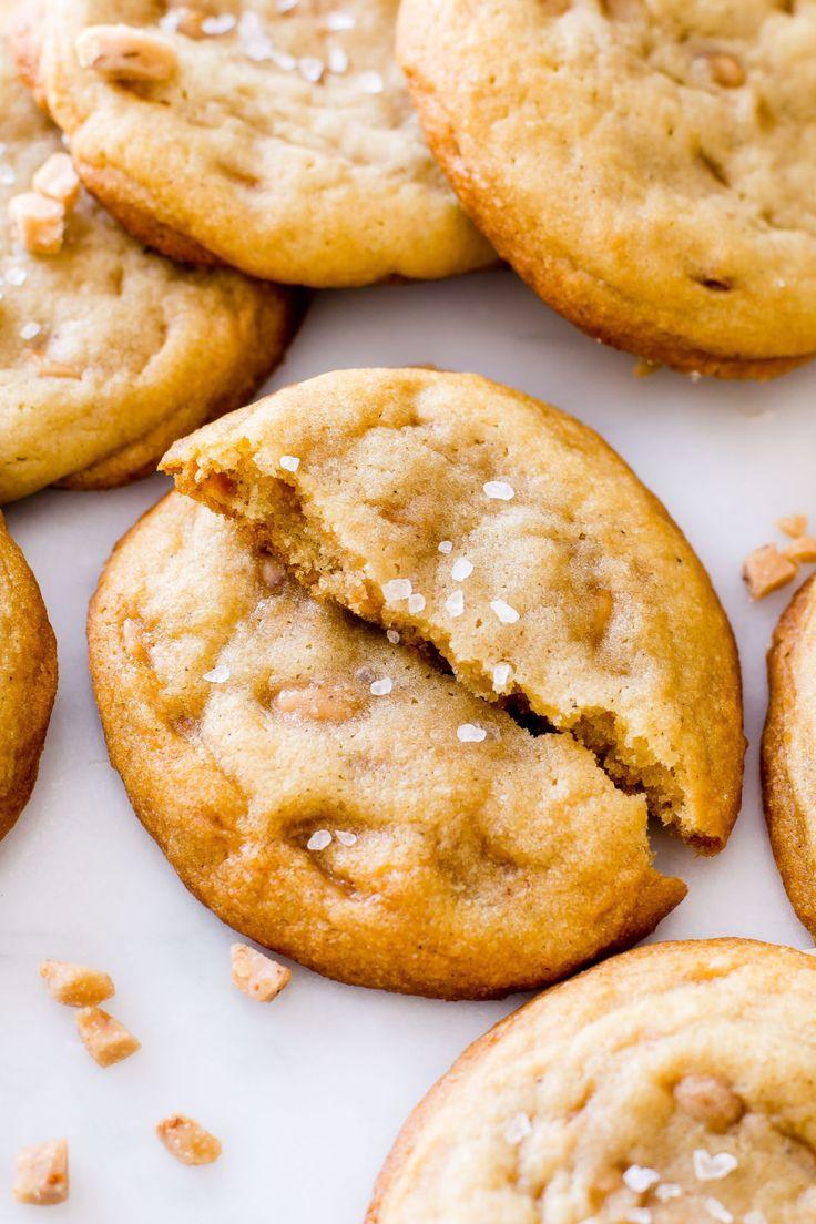 Best Salted Vanilla Toffee Cookies Recipe - How to Make Toffee Cookies