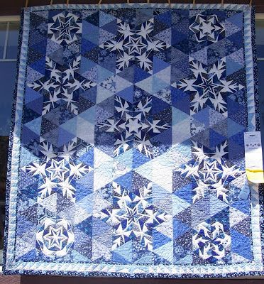 The Embroidered Snowflake Applique Template Can Be Used To
