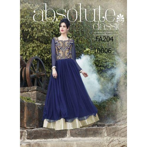 New Designer Nevy Blue  Floor Length Gown