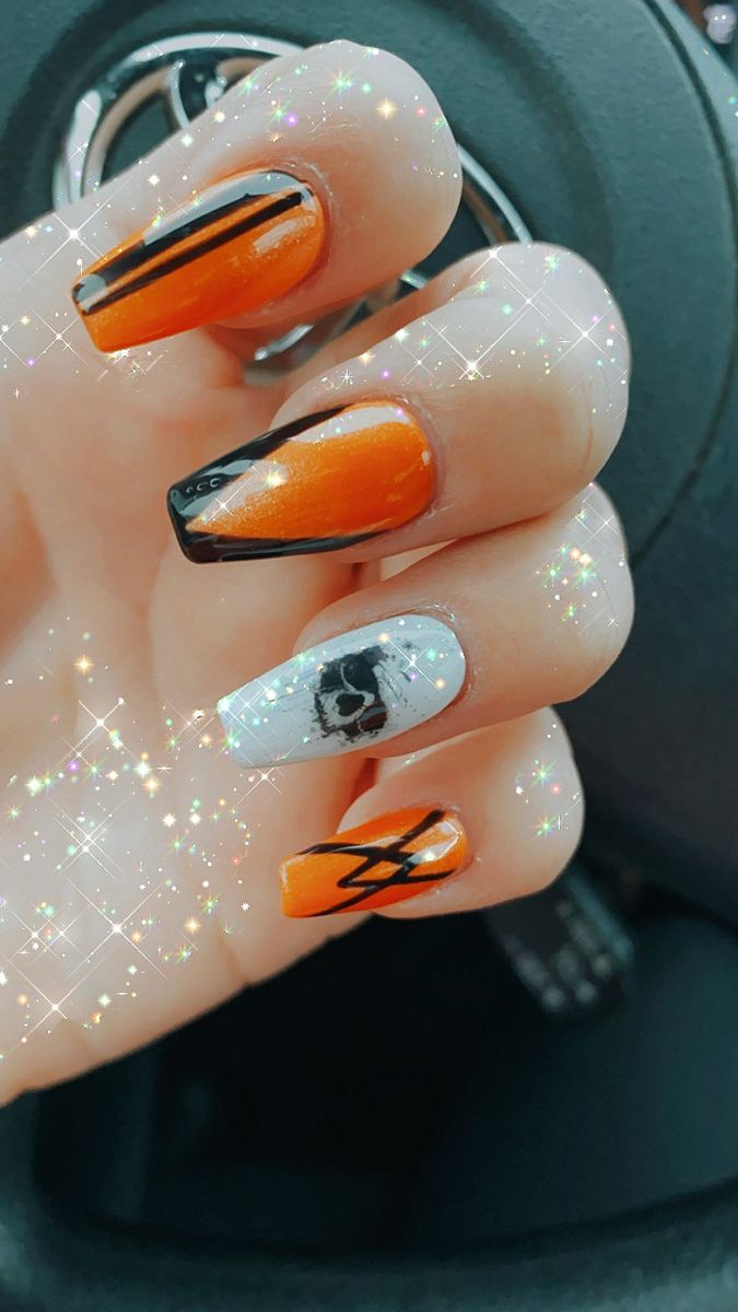 Bellingham Halloween 2020 Halloween Skull Nails in 2020 | Skull nails, Halloween skull, Nails