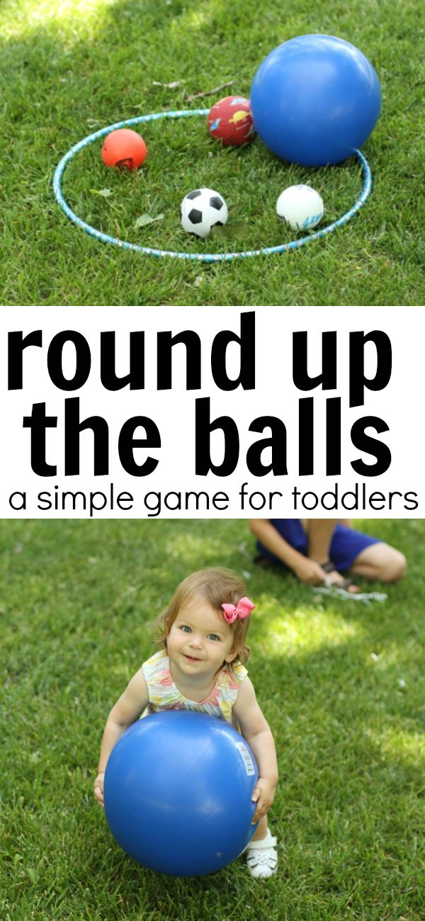 Round Up the Balls Game for Toddlers | Outdoor games for ...