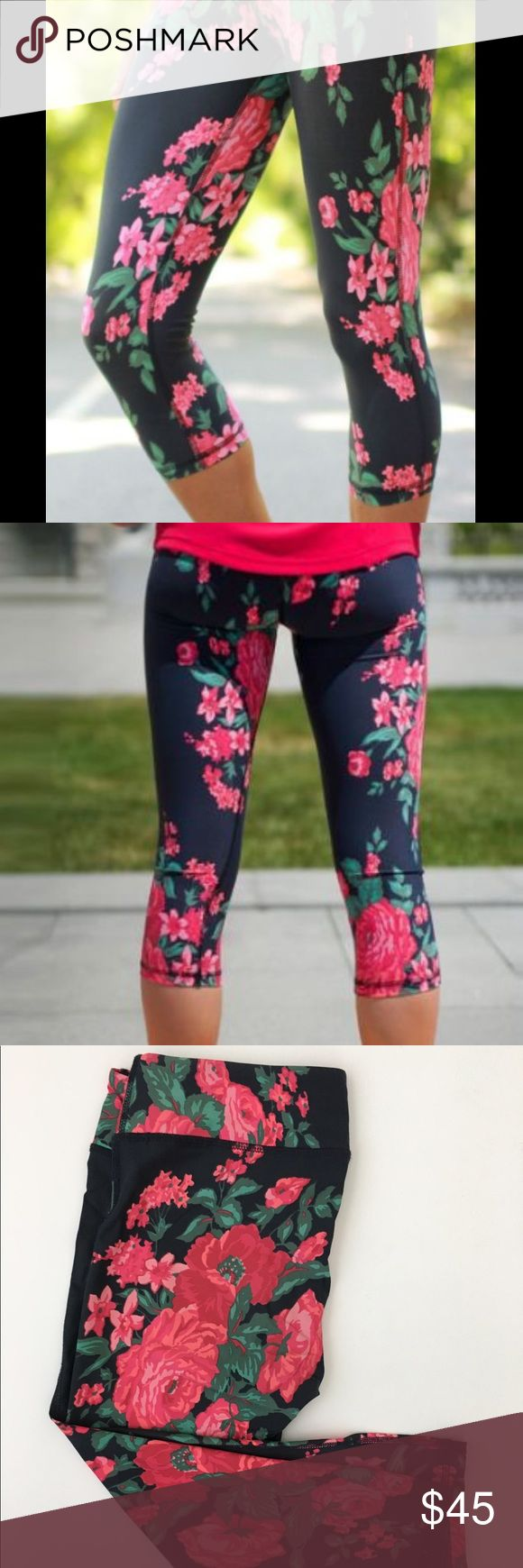 Albion Fit Antigua Leggings Limited edition Albion fit crib leggings hit just above the calf. Made with premium compression fabric, great for workouts! Wide waste band make them so comfortable. These are in excellent condition! albion fit Pants Leggings