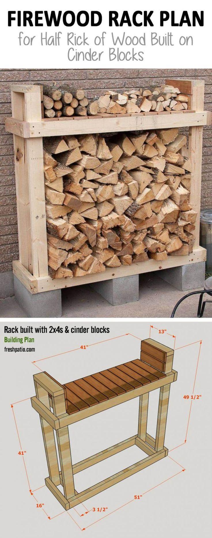 10 Creative DIY Outdoor Firewood Rack Ideas for Storage
