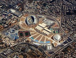 Aerial view of Olympic complex in Athens 2004