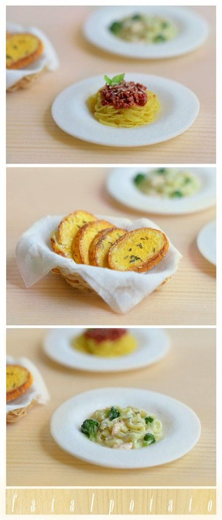 Miniature Italian food by FatalPotato on DeviantArt