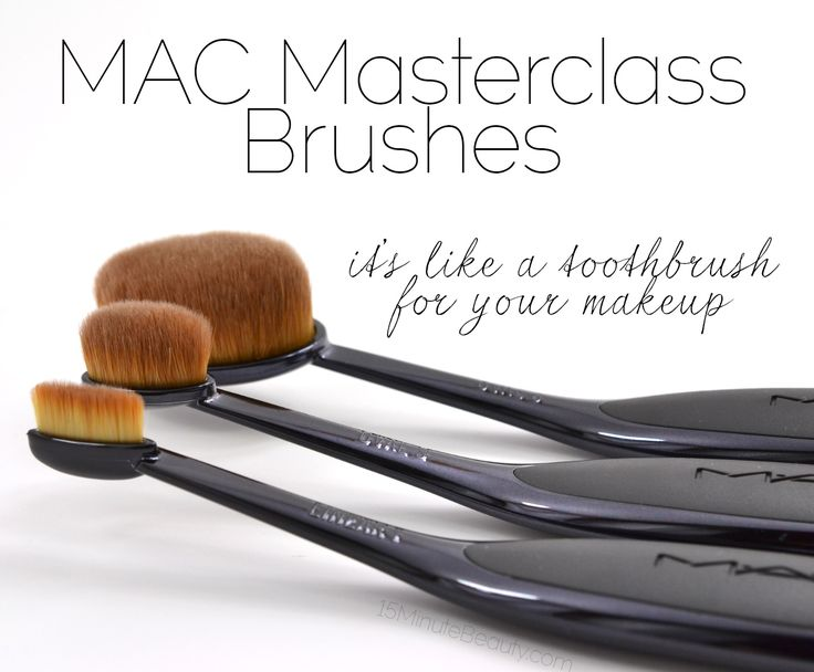 MAC Masterclass Cosmetic Brushes Review, and how to use them!  They're like toothbrushes, but amazing and soooo much better than regular makeup brushes!