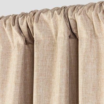 """Lightblocking Curtain Panel Tan (42""""x63"""") - Room Essentials"""