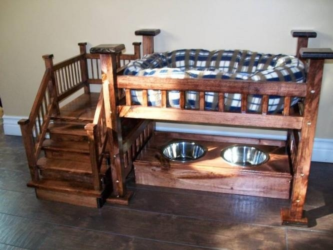 Dog bunk bed with food. Amanda, we need to become ...
