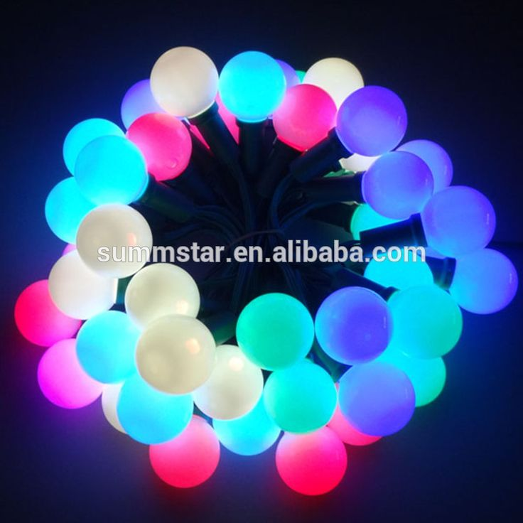 Wholesale color changing outdoor led ball string christmas light