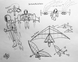 Draw Jet Packs and Hang Gliders by Diana-Huang