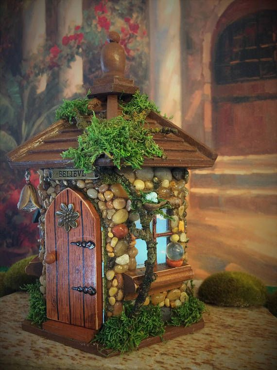 This whimsical Fairy Cottage would be perfect in any fairy garden or placed in with a potted plant. Could also be used for a night light. The door to this cottage opens and lights are included with your purchase. At The Healers Garden we are dedicated to only the finest craftsmanship. Each cottage is made using outdoor glues and is finished using a outdoor urethane. This cottage is made of wood and rocks so unlike the resin type fairy houses my little cottages will not fade from the sun. Si… Gardening Today