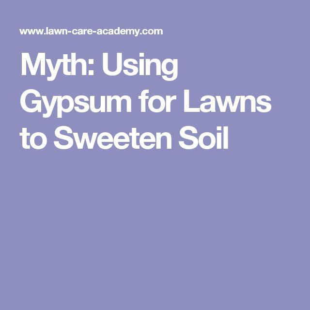 Myth: Using Gypsum for Lawns to Sweeten Soil