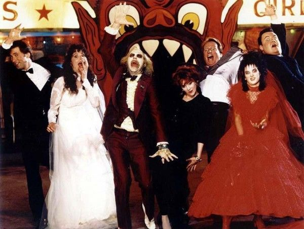 The cast of Beetlejuice