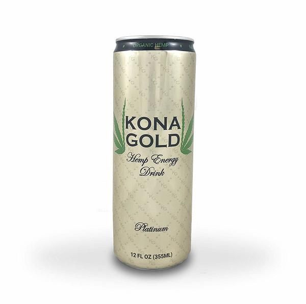 Kona Gold Platinum Hemp Energy Drink 12 0 Fluid Ounces Pure Sugar Cane Organic Hemp 12 Pack Energy Drinks Pure Products Gold Platinum
