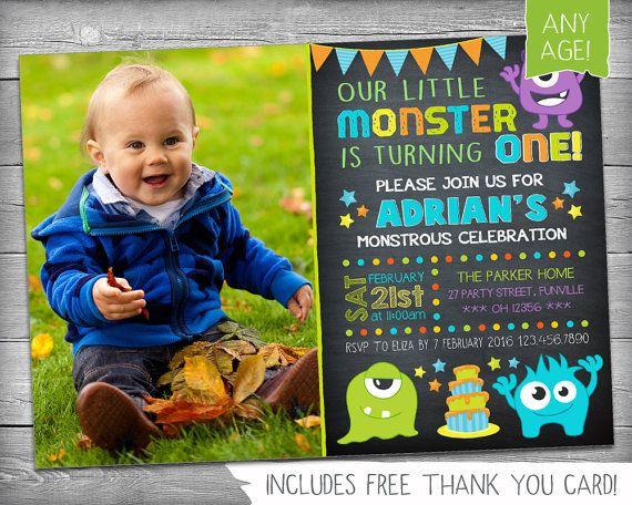 Monster Invitation  Monster Invite  First by KikimooDesigns