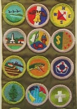 patches and badges, girl scout badges were a favorite
