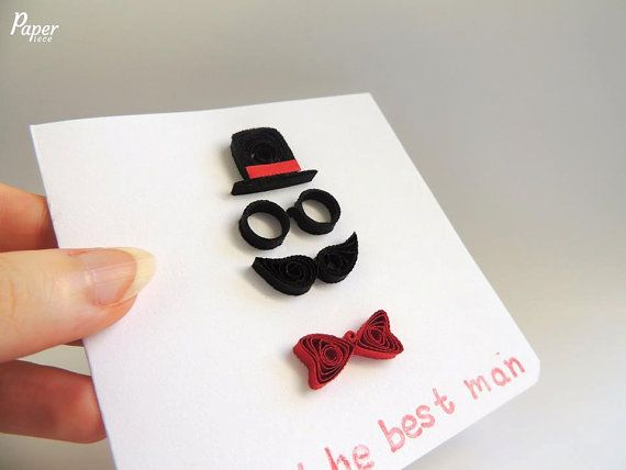 Birthday Card For Him Gift The Best Man Paper Handmade
