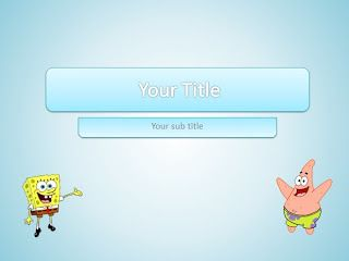 If we make a template first spongebob with a simple theme (read: Spongebob Template) and the dominance of yellow color, we now offer complete theme spongebob squarepants and patrick with combination blue and white color. there are 6 special layouts in this template. you can choose in slide panel with right click then Layouts.