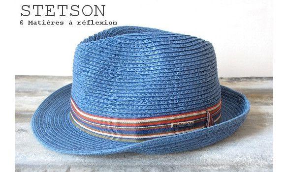 Stetson chapeau homme bleu Monett trilby #stetson #homme #chapeau #hat #paille #bleu #blue #trilby #men #fashion #mensfashion #ss15 #accessoires #accessories