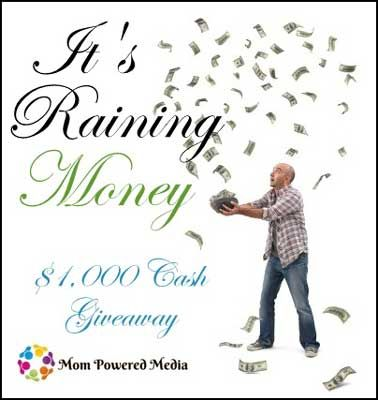 raining money giveaway sign-up