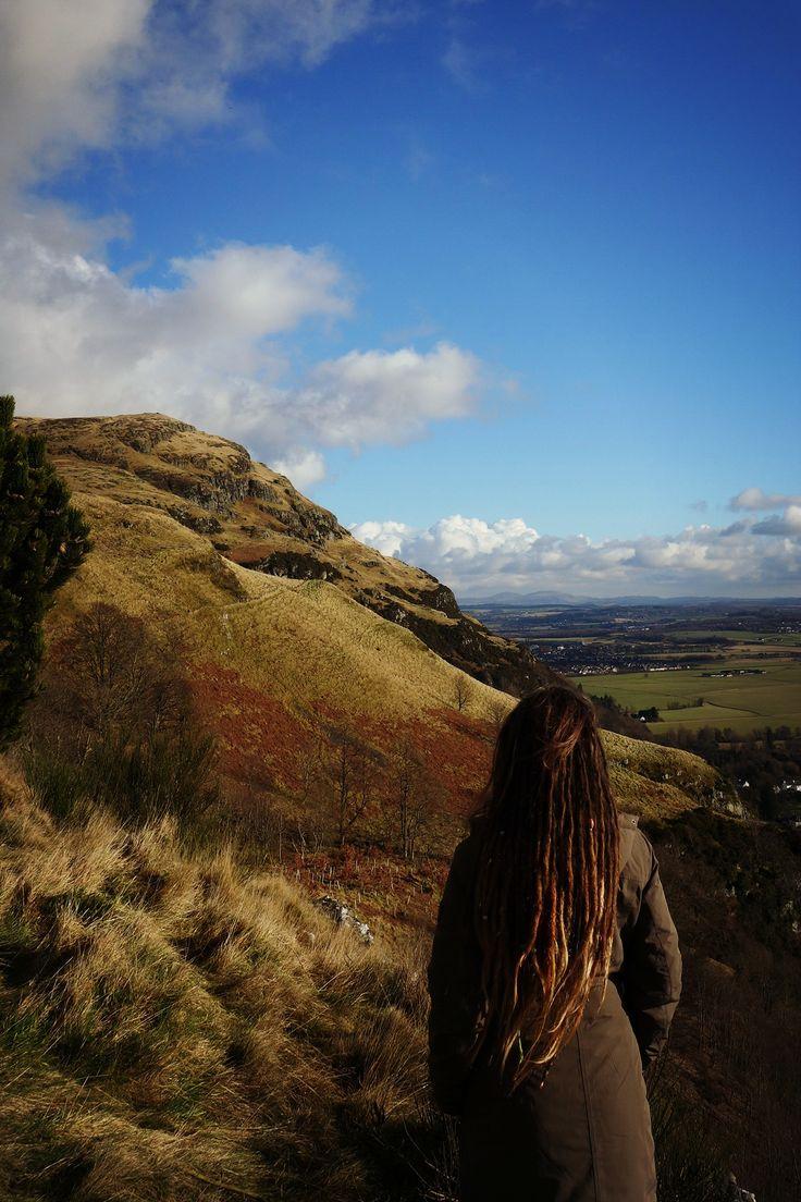 Dumyat #girl #dreadlocks #nature #view #beautiful #Scotland #Dumyat #hike #trip
