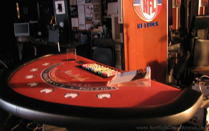 Blackjack Table ready for filming at the NFL Network Office in ...