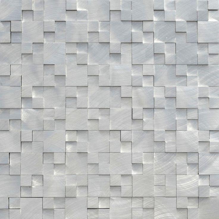 Kitchen Tile Sketchup: Aluminum Mosaic Tile 3D Raised Pattern