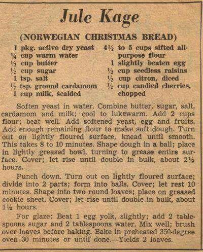 Norwegian  Christmas  Bread
