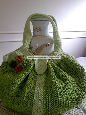 Crocheted purse  So cute!: Chanel Handbags, Crochet Bags, Bags Patterns, Bolsa Ems, Bolsa Fatbag, Crochet Purses, Bolsa Bug-Out, Bags, Crocheted Purses