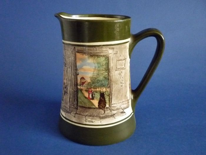 Royal Doulton 'Open Door with Cat' Series Ware Newlyn Jug D3754 c1915