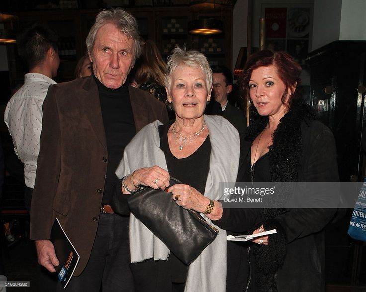 David Mills, Dame Judi Dench and Finty Williams attend the press night after party for the Kenneth Branagh Theatre Company's production of 'The Painkiller' at Garrick Theatre on March 17, 2016 in London, England.