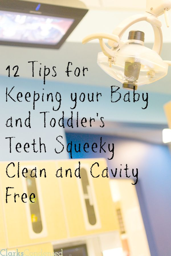 One of the best things you can do for your child is teach them good dental habits early on in life. Here are 12 tips for keeping your baby or toddler's teeth squeaky clean and cavity free!