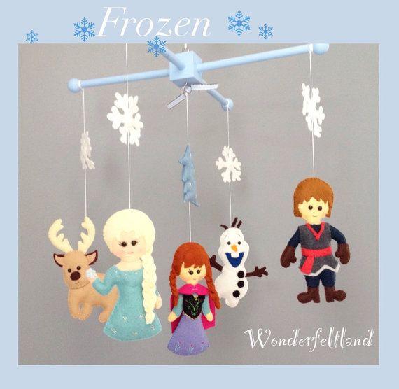 Baby Mobile Crib Mobile Nursery Decor Frozen by wonderfeltland