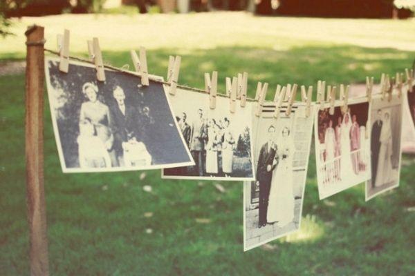 familienfoto reihe dekoration-im garten-für feste-ideen