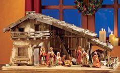 Eine Krippe ist Tradition an Weihnachten. Wir haben eine Alpenland-Weihnachtskrippe gebaut. #heimwerken #Bauanleitung #Weihnachten