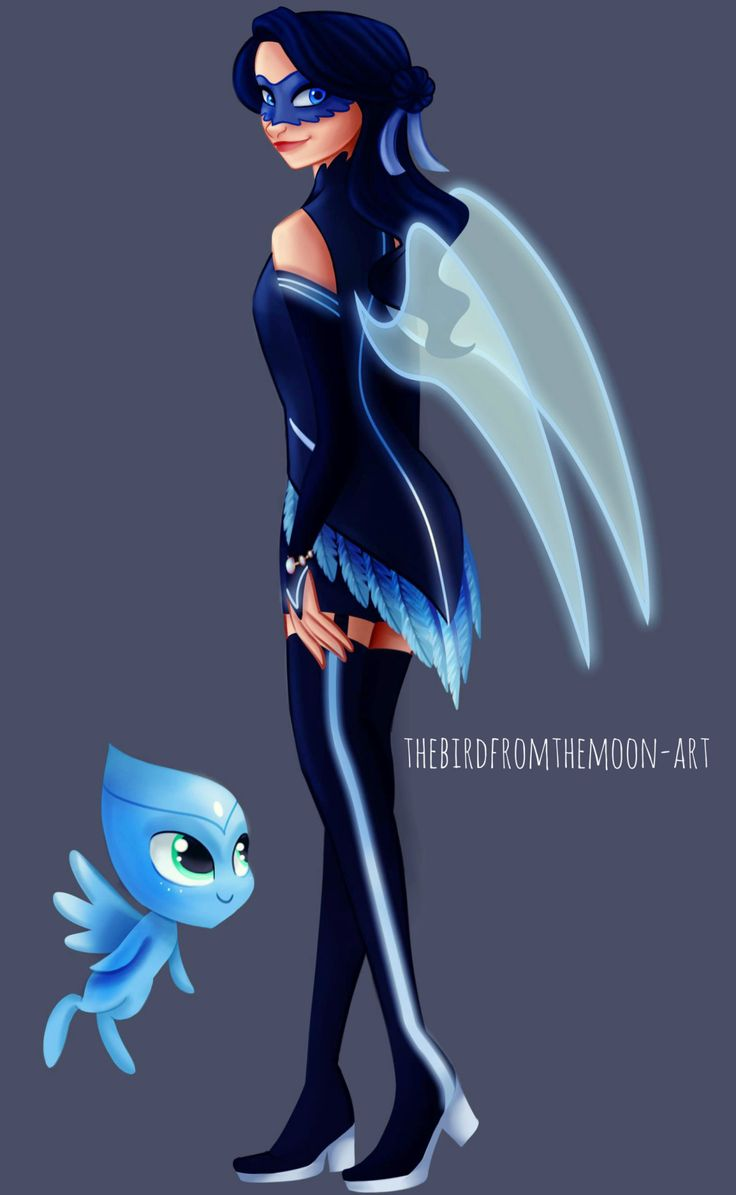 """Just wanted to draw a cool design for a Miraculous holders….This girl is stuck in a corner of my head since I began to watch ML x) Don't know much about her beside:- Her name is Alice- Her Kwami's name is Azur Zurri and represent a Blue Jay- Her miraculous is her bracelet- Her special attack is """"Electric shock""""Sorry for the creepy Kwami design"""