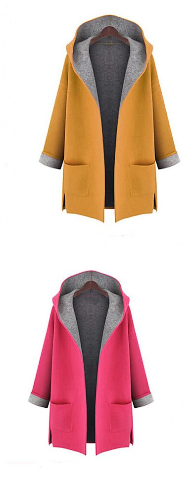 Add some colors this autumn - Casual sport hoodie coat for women. Comes in mustard and pink colors at $18.04. Only TODAY - 11.11 sale - up to 85% OFF on all categories.