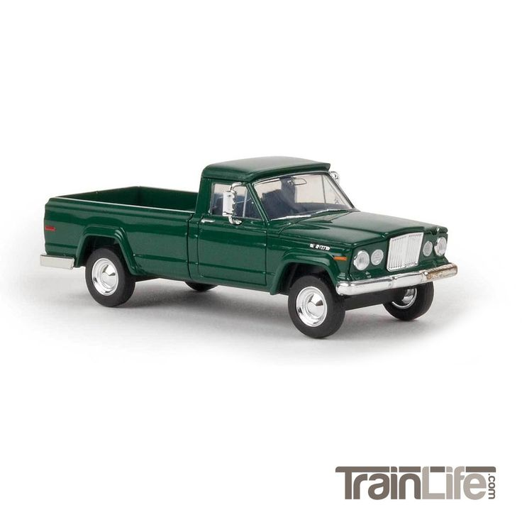 HO Scale: 1962 Jeep Gladiator Pickup Truck - Moss Green