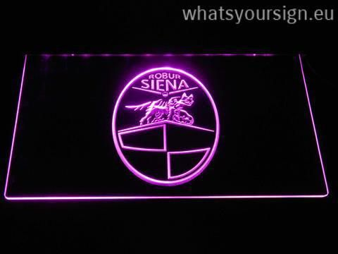AC Siena – Legacy Edition - LED neon sign made of the premium quality transparent acrylic and brilliant colorful LED illumination. The neon sign displays exactly the same from every angle thanks to the carving with the newest 3D laser engraving technology. This LED neon sign is a great gift idea! The neon is provided with a metal chain for displaying. Available in 3 sizes in following colours: Purple, Red, Blue, Orange, Yellow, Green and White!