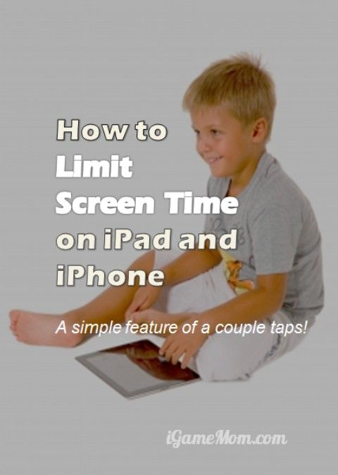 How to limit screen time on ipad iphone - a simple feature with a couple of clicks in the device setting