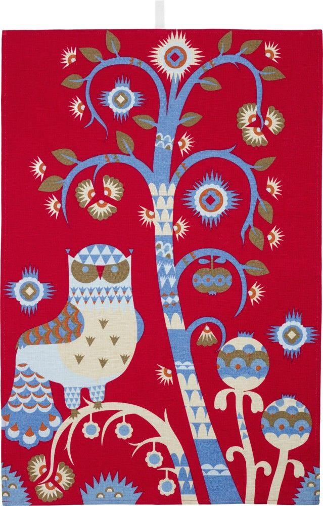 Iittala - Taika Kitchen towel 47x70 cm red - Iittala.com